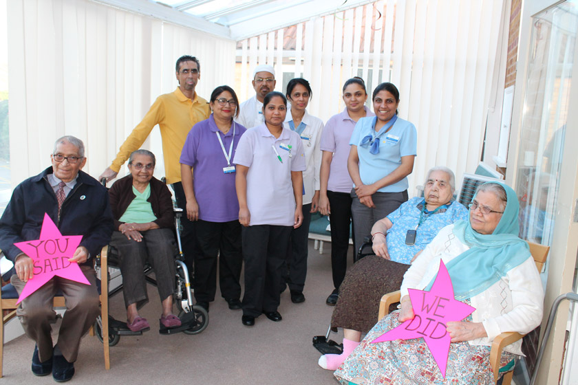 Staff and residents at Asra House