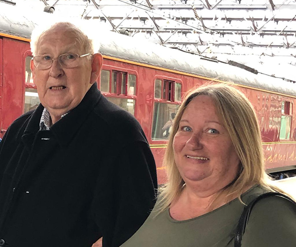 Margaret Sheriff and her husband Martyn are the sole cares for father Keith, who lives with them and has advanced vascular dementia.