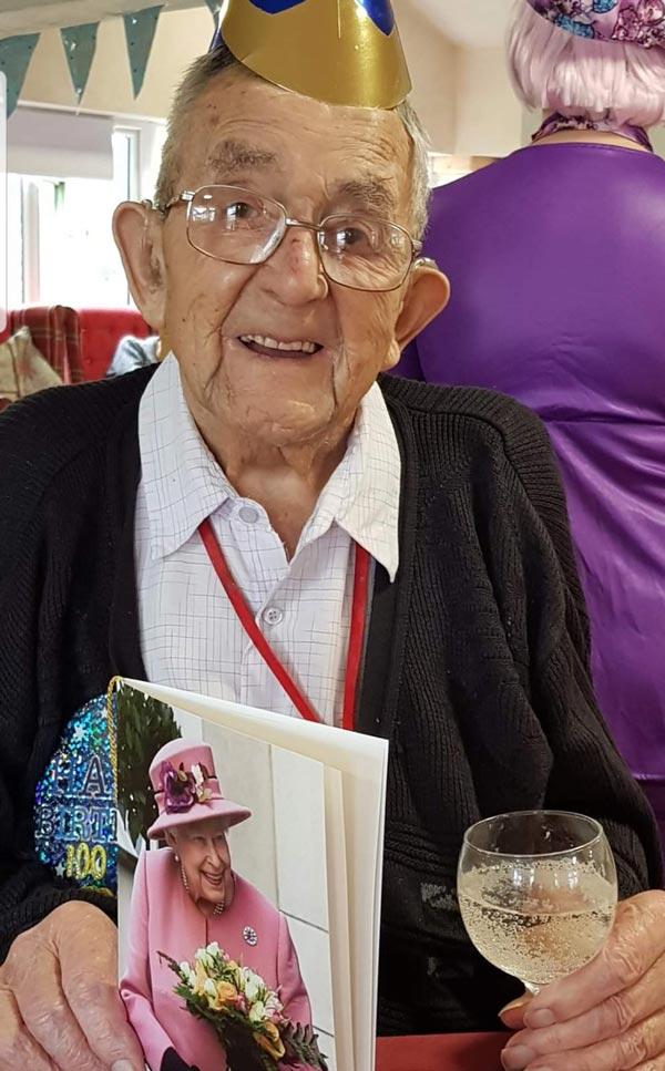 Preston celebrating his 100th birthday