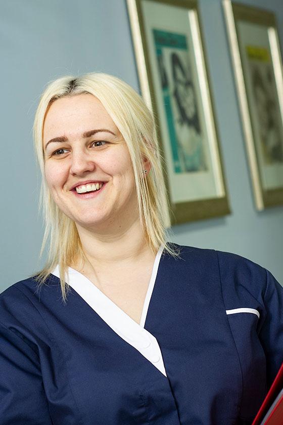 A member of Sanctuarys experienced nursing team, Zoe Rira,