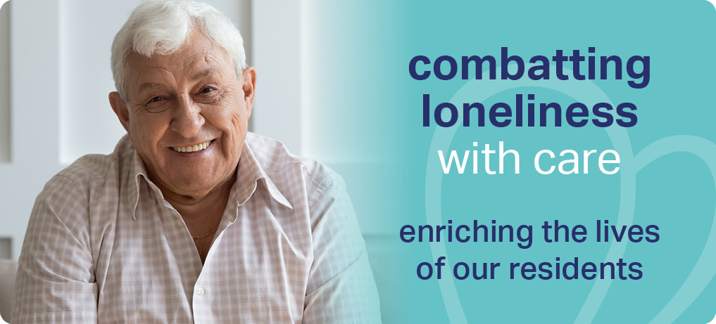 A smiling Sanctuary Care resident celebrates Sanctuary's combatting loneliness service
