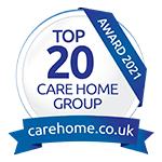 Carehome.co.uk Top 20 Care Home Group Award Logo