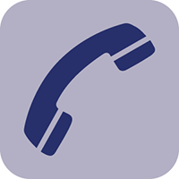 Blue telephone vector