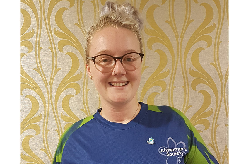 Jade Mealing supporting the Alzheimer's Society with her 26 mile trek.