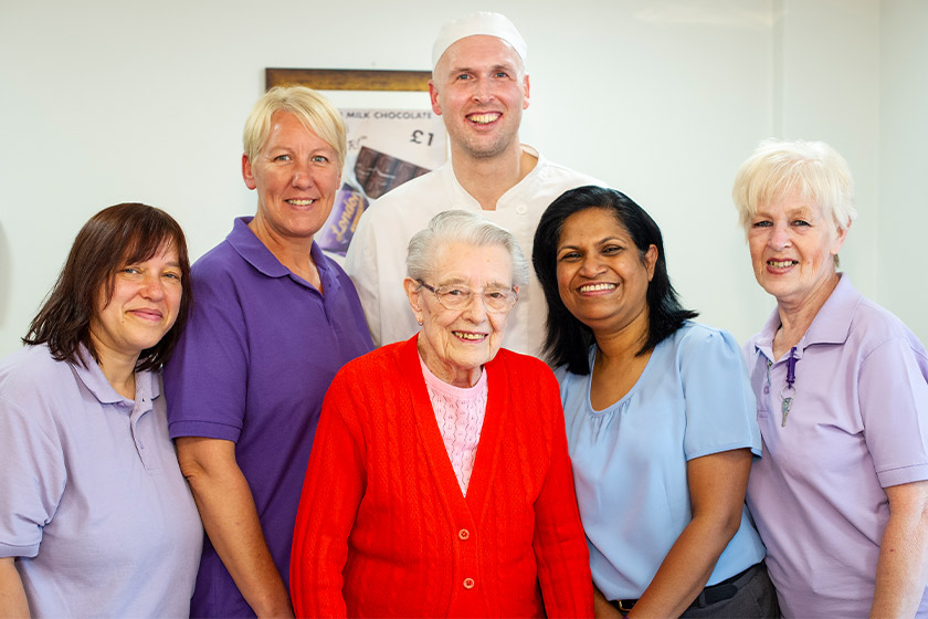 Lammas House staff with resident