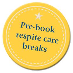 Pre-bookable respite care logo