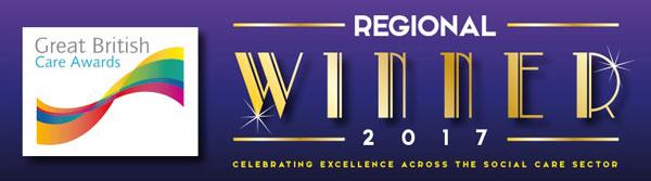 Great British Care Awards Regional Winner 2017 logo