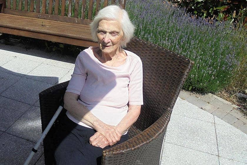 Mary Maddocks Sanctuary Care resident