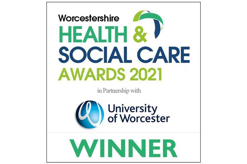 Worcestershire Health & Social Care Awards 2021 Winner logo