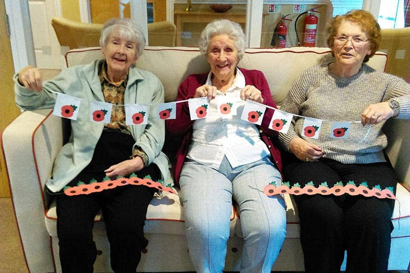 Residents Jean Capner, Doreen Vardy and Gill Hunt