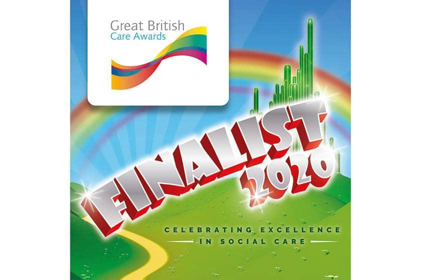 Great British Care Awards Finalist Logo