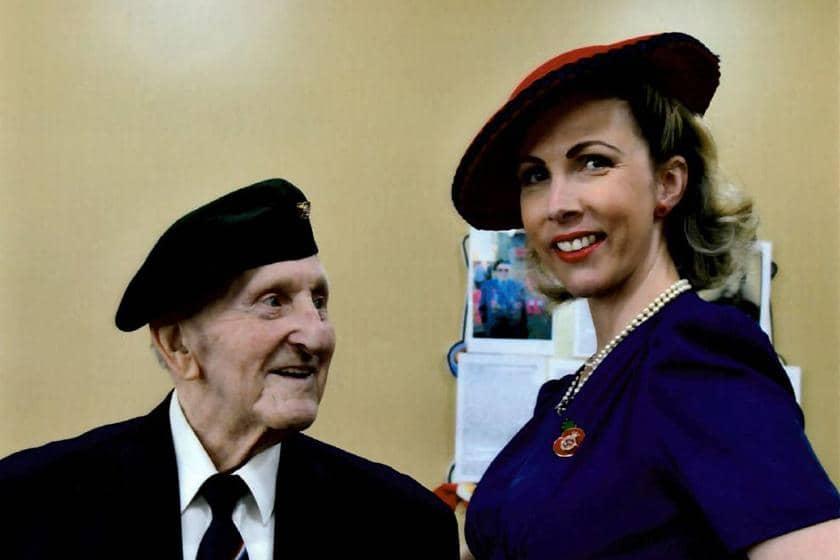 Ken Honeybun and 1940s entertainer Jayne Darling