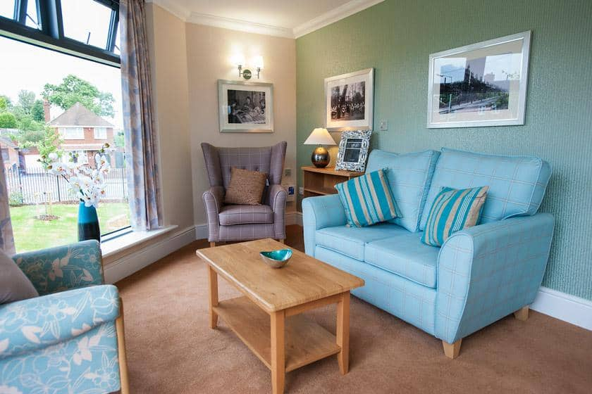 Interior lounge at Lime Tree Court