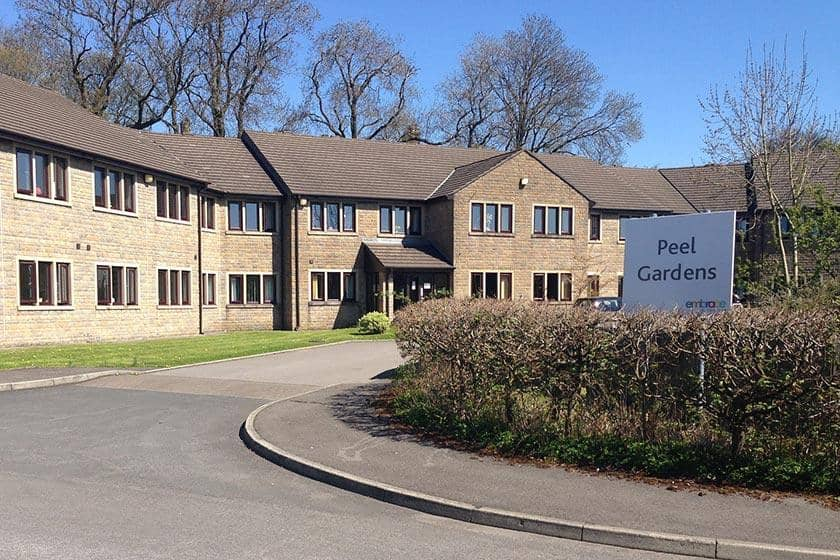 Exterior at Peel Gardens Residential and Nursing Home in Lancashire