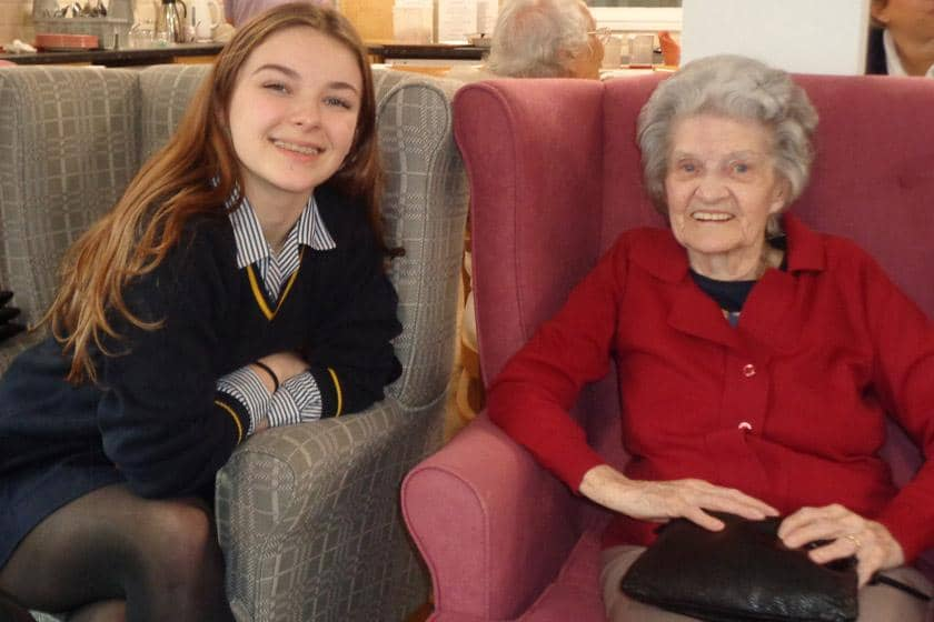 16-year-old student from Blackheath High School and resident Queenie Stanley.