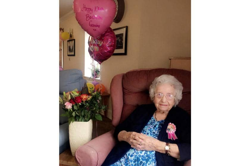 Florence celebrating her 104th birthday.