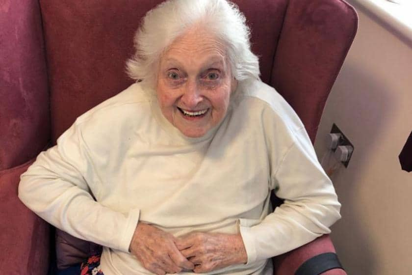 Betty Ashburner, a Sanctuary Care resident