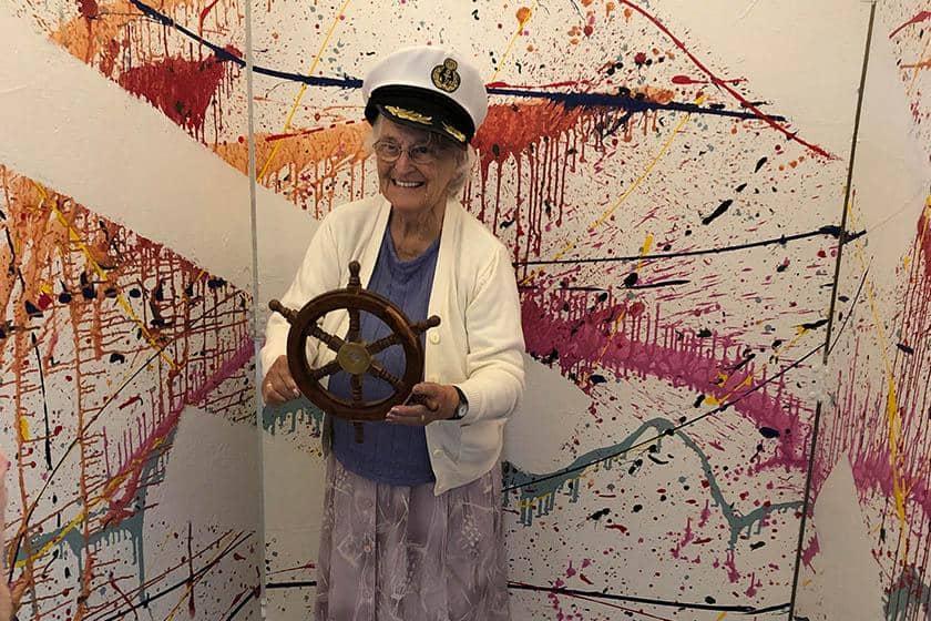 Mary Stone enjoying cruise week