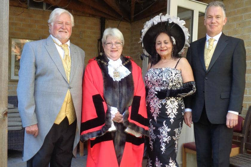 Mayor of Greenwich with the Connaught Opera trio