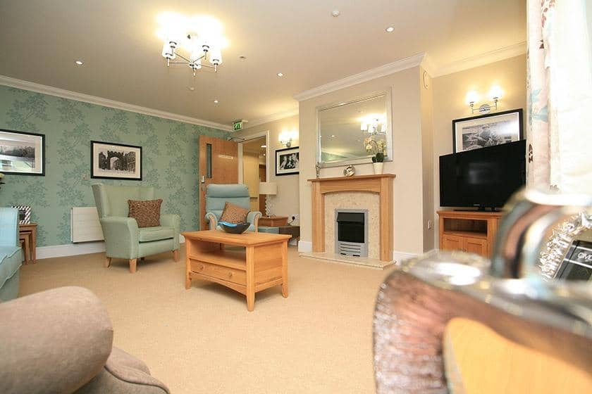One of the lounge areas at Park View Residential Care Home