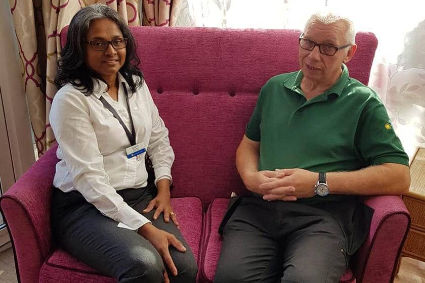 Home Manager Audrey Parathan and Maintenance Assistant Peter Young.