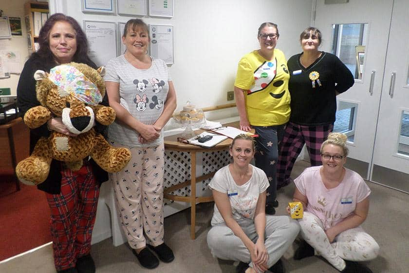 Sanctuary Care staff at Don Thomson House Residential Care Home dressed down for the day
