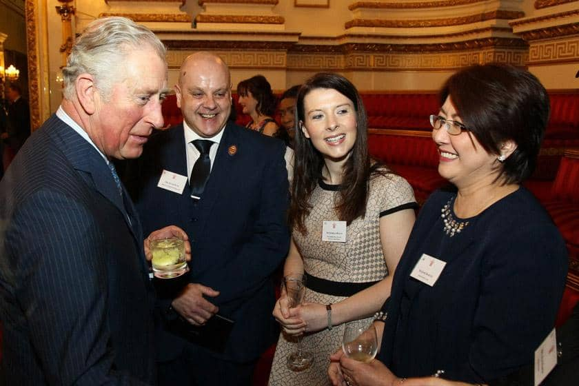 Josie Barcial with the Prince of Wales at the celebration of nursing reception