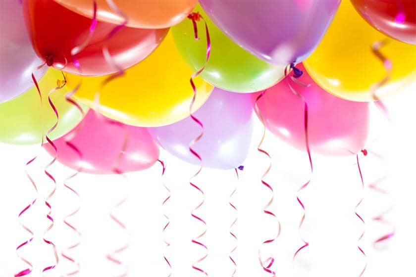 Generic colourful balloons mark Time for a Cuppa celebrations and glowing CQC report