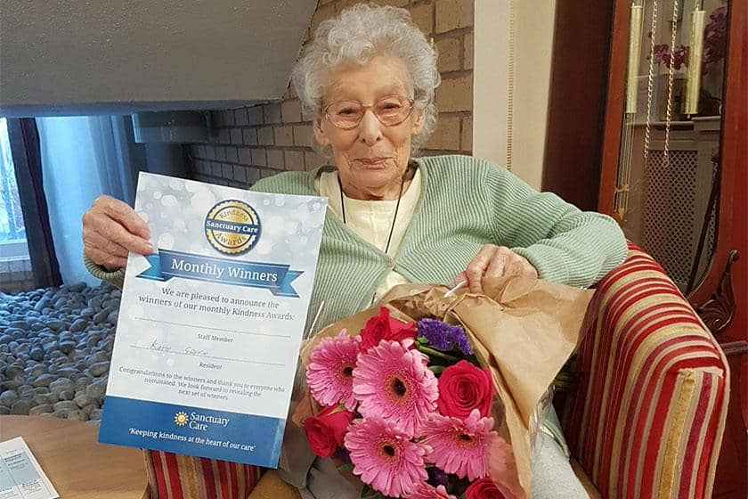 Kathleen Green wins special award for on-going kindness and generosity.