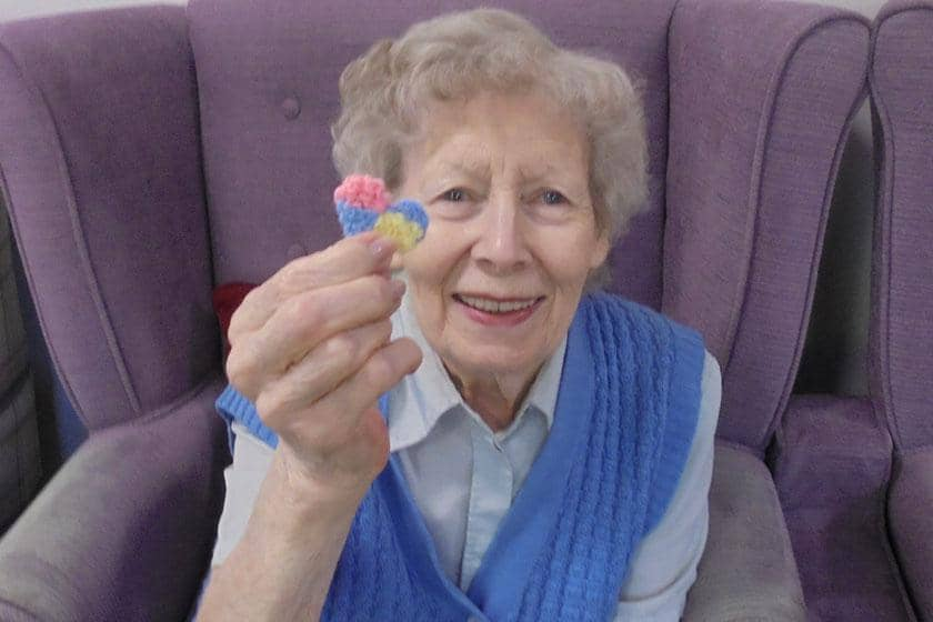 A resident from Brambles Residential Care Home in Redditch