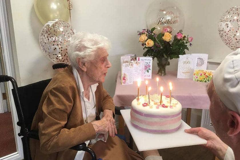 Kathleen celebrating her 100th birthday