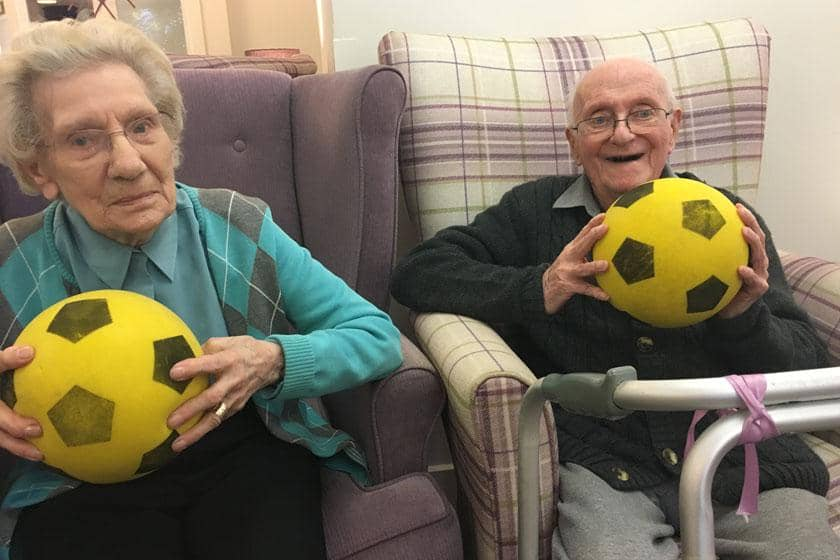 Residents taking part in the GFit sessions