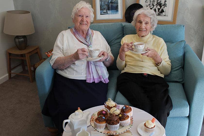 Jean McAllister and Madge Napper enjoying Silver Sunday