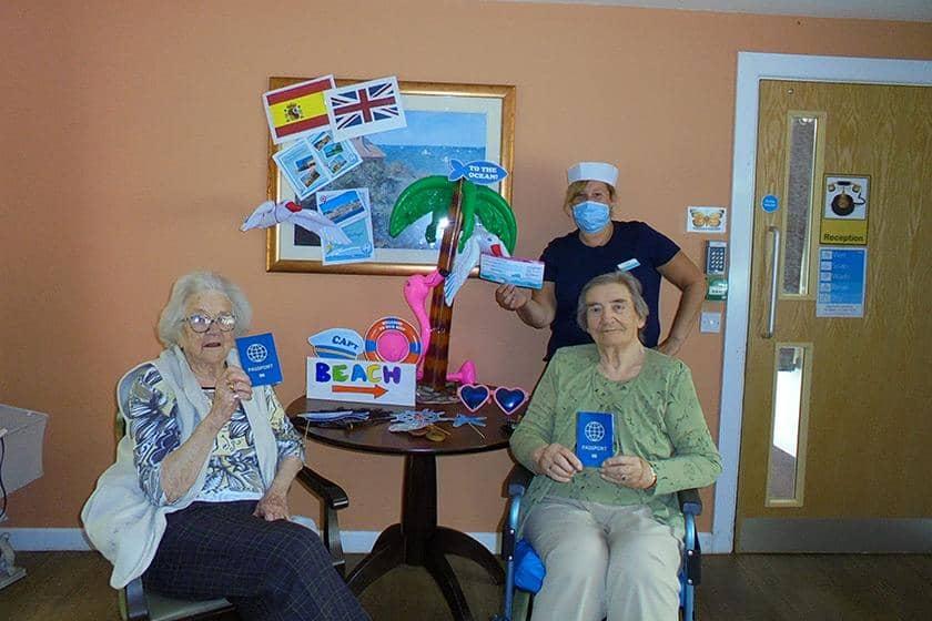 Pat Happel, and Activities Coordinator Suzie Davis enoying Cruise Week