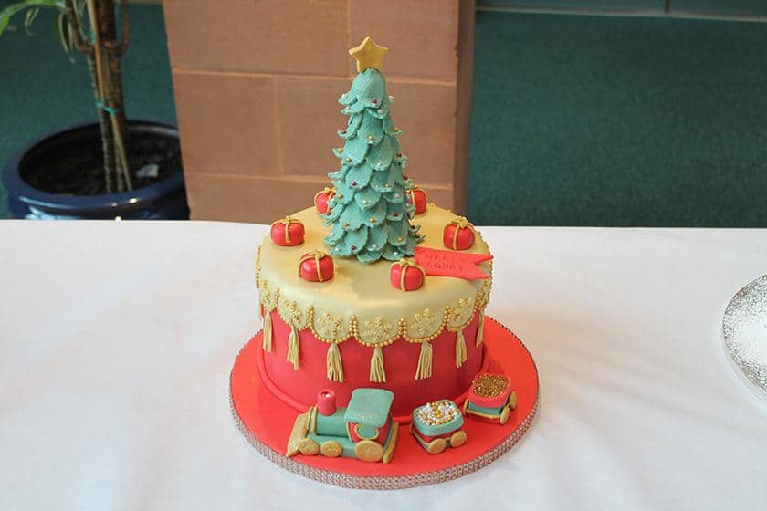 The winning Sanctuary Care Christmas Cake