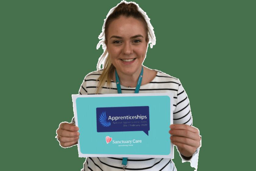 Sanctuary Care Apprentice Abbie Smith