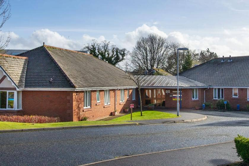 Exterior of Allanbank care home