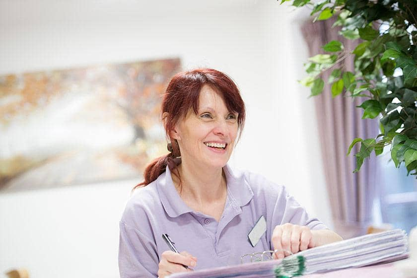 Care assistant Moira Whelan