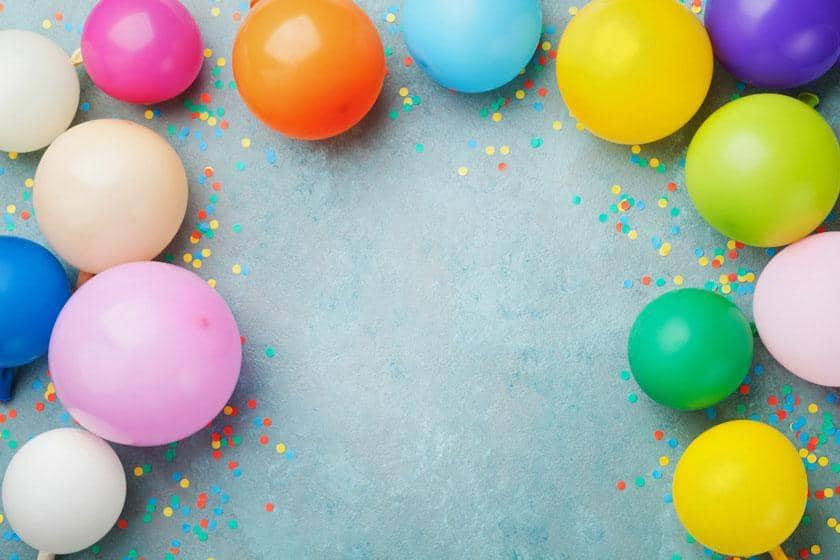 Balloon and confetti celebrations