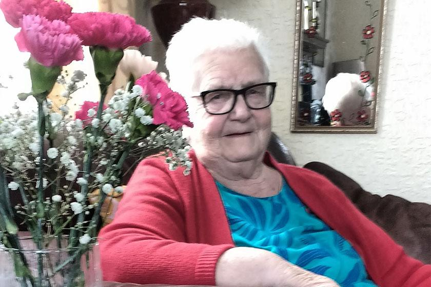 Dorothy Unwin who receives respite care at our Beach Lawns Residential and Nursing Home in Weston-super-Mare