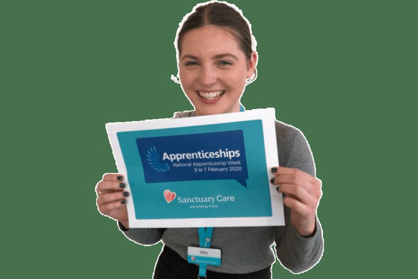 Sanctuary Care Apprentice Olivia Davies