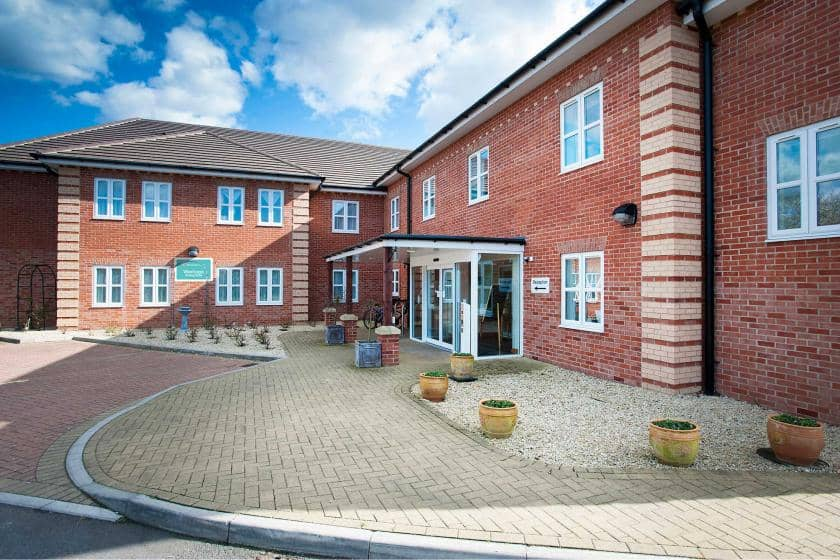 The frontage of Wantage Nursing Home in Oxfordshire.