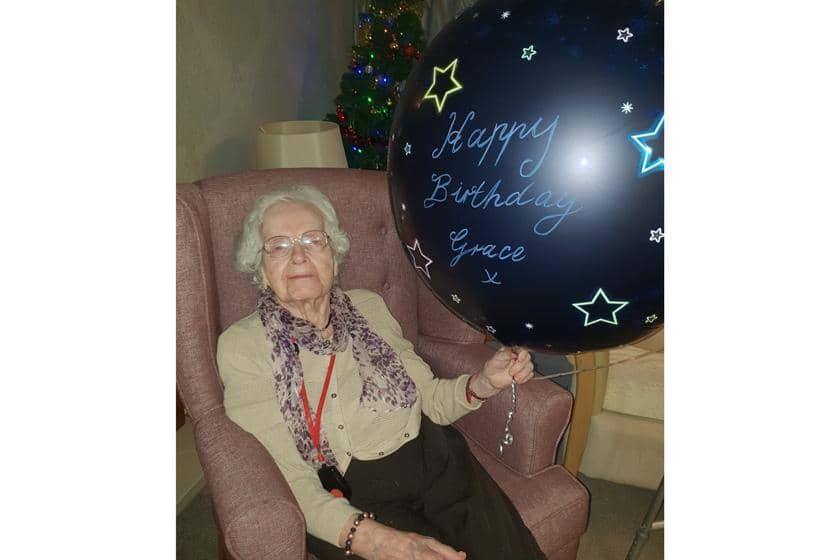 104-year-old resident Grace Martin