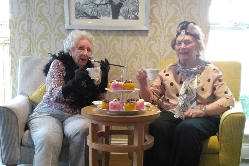 Residents dressed up for their 1950s tea dance.