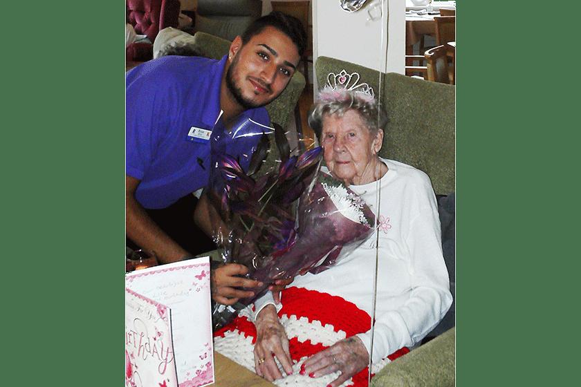 Resident at Lime Tree Court celebrates her 101st birthday.