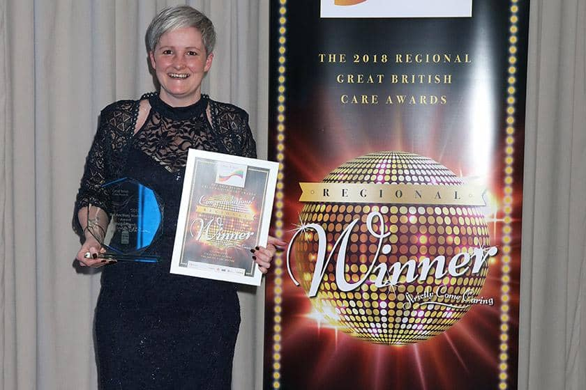 Kay Walker celebrates award win