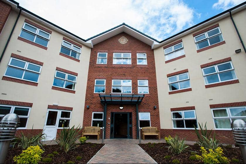 Exterior of Lime Tree Court Residential Care Home