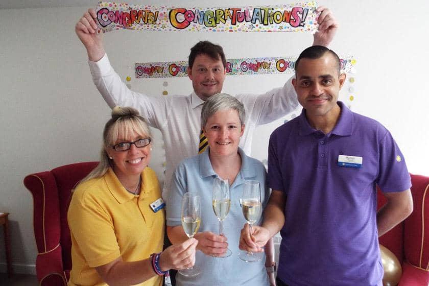 Brambles staff celebrating being shortlisted.