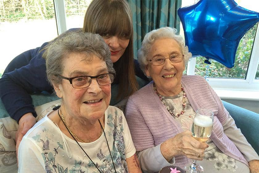 Resident Janet Tye, Deputy Manager Louise White and Resident Shirley Woodley.