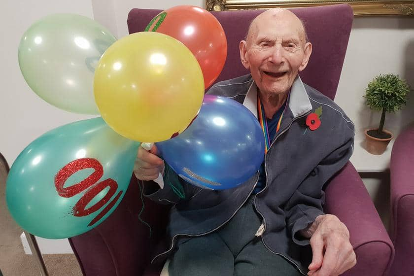 Victor celebrating his 100th birthday